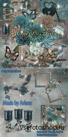 Scrap Set - Moments Aimes PNG and JPG Files