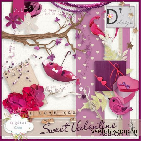 Scrap - Sweet Valentine PNG and JPG Files