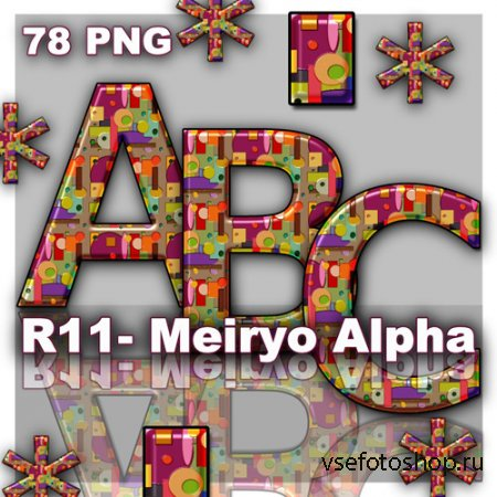 Meiryo Alpha PNG Files