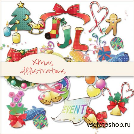 Xmas Illustrations PNG Files