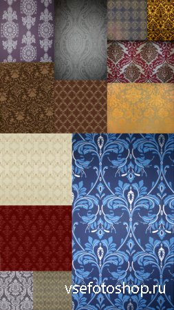 Set of colored Oriental Texture With Patterns