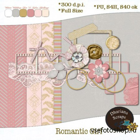Romantic Girl Kit PNG and JPG Files