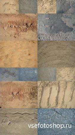 Texture of Different Surfaces of the Earth