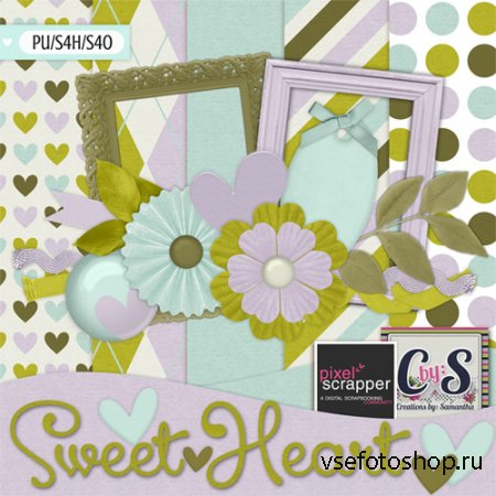 Sweet Heart Kit PNG and JPG Files