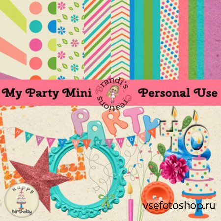 My Party Mini PNG and JPG Files