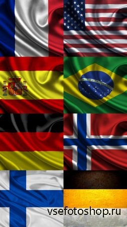 Wallpapers Flags of different States JPG Files
