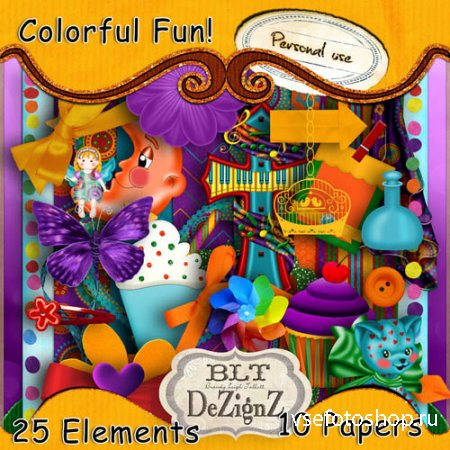 Colorful Fun PNG and JPG Files