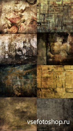 Dreamlike Flowers and Grungy Wall Texture JPG Files