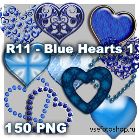 Blue Hearts PNG Files