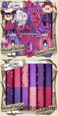 Scrap - Lil Miss Princess PNG and JPG Files