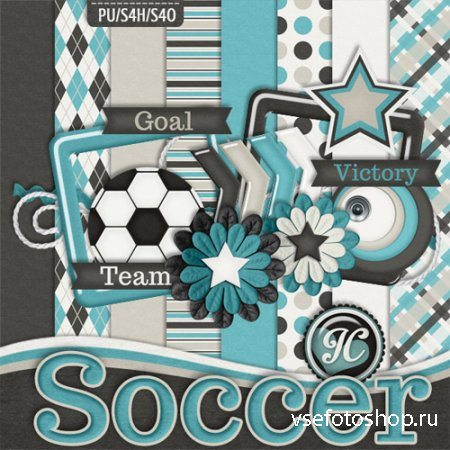 Scrap - Soccer PNG and JPG Files