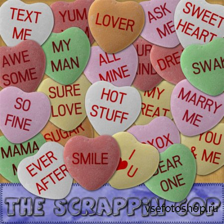 Candy Heart PNG Files