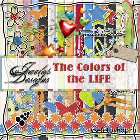 Scrap - The Colors of the LIFE PNG and JPG Files