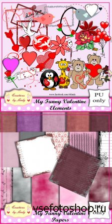 Scrap - My Funny Valentine PNG and JPG Files