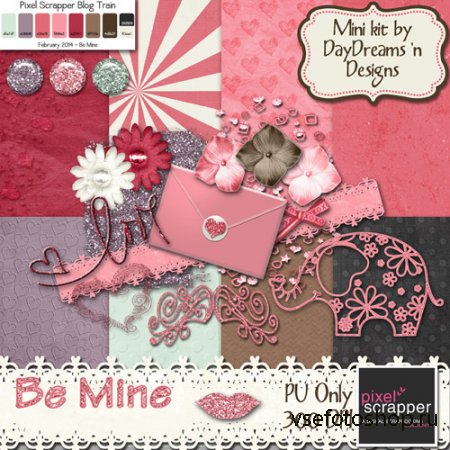Be mine Kit JPG and PNG FIles