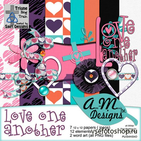 Scrap - Love One Another PNG and JPG Files