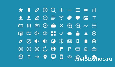 Clean Flat Web Icons Pack