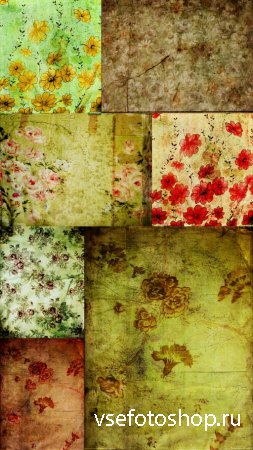 Retro Flowers Textures JPG Files