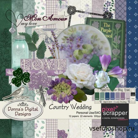Scrap - Country Wedding PNG and JPG Files