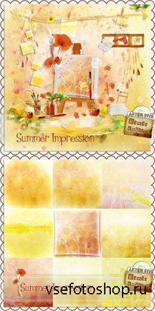 Scrap -  Summer Impression PNG and JPG Files