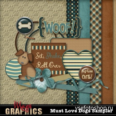 Scrap - Must Love Dogs PNG and JPG Files