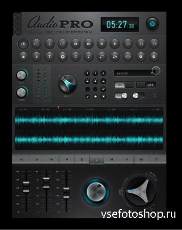 Ipad Music Application Software Interface Design Psd Layered