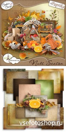 Scrap - Nuts Season PNG and JPG Files
