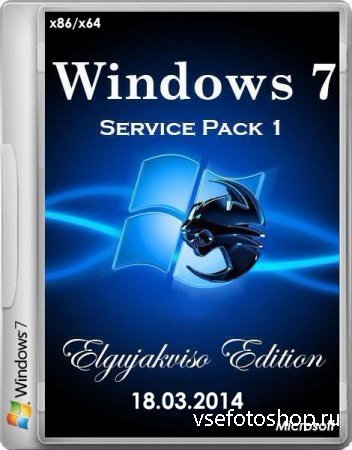 Windows 7 Ultimate x86/x64 SP1 Elgujakviso Edition v.18.03.14 (2014/RUS)