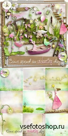 Scrap - Come Spend An Enchanting Day PNG and JPG Files