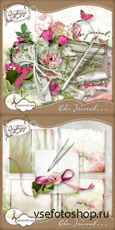 Scrap - Cher Journal... PNG and JPG Files