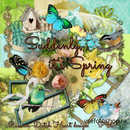 Scrap - Suddenly it's Spring PNG and JPG Files