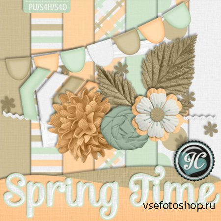 Spring Time Kit JPG and PNG Files