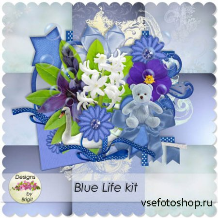 Scrap - Blue Life Kit JPG and PNG