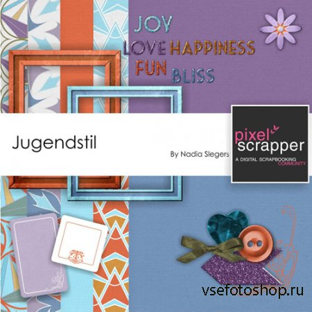 Scrap - Jugendstil PNG and JPG Files