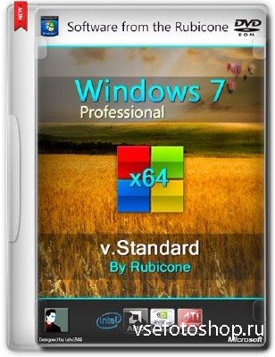 Windows 7 SP1 Professional v.Standard by Rubicone (x64/RUS/2014)