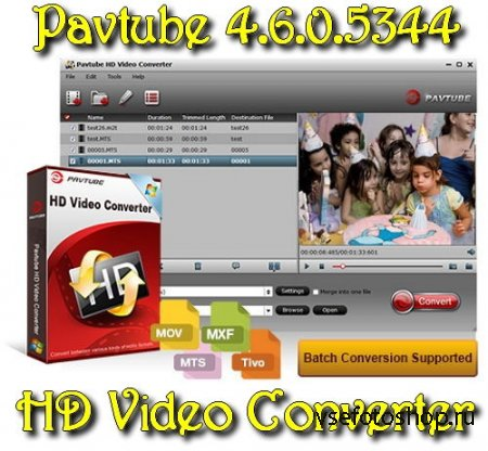 Pavtube HD Video Converter 4.6.0.5344 ML Rus