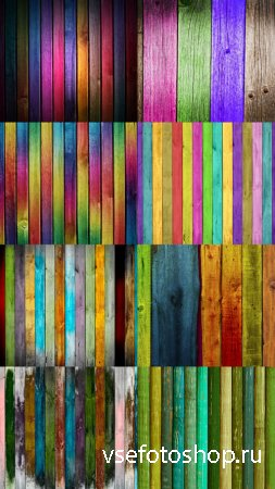 Multicolored Wood Textures JPG Files