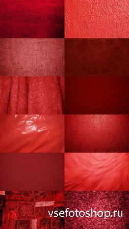 Red Textures Beautiful Colored Set 2