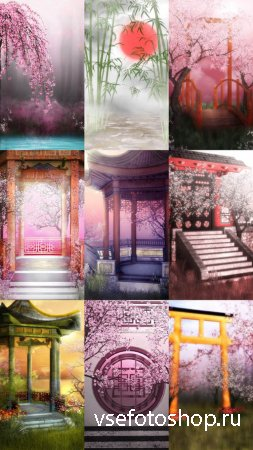 Beautiful Orient Backgrounds JPG Files