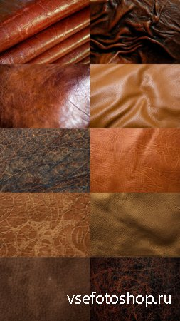 Brown Leather Textures JPG Files Set 1