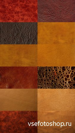 Brown Leather Textures JPG Files Set 3