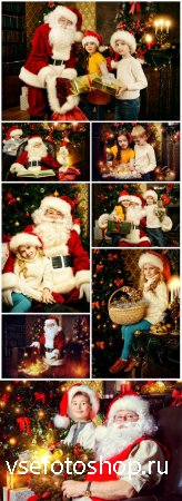 Christmas, Santa Claus with children