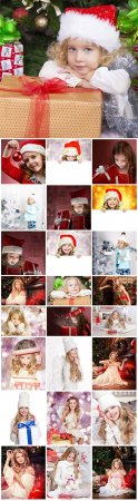 Christmas, children, new year - Stock photo