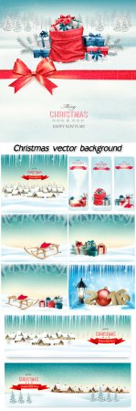 Christmas, winter vector background