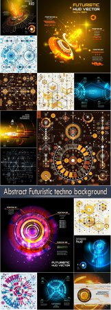 Abstract Futuristic techno background