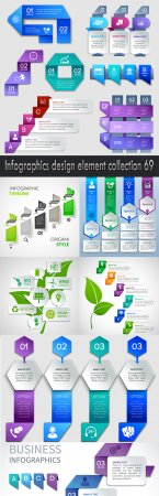 Infographics design element collection 69