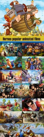 Heroes popular animated films