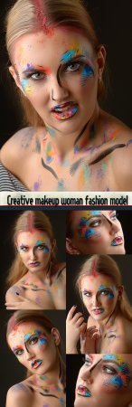 Creative makeup woman fashion model