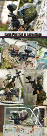 Game Paintball in camouflage