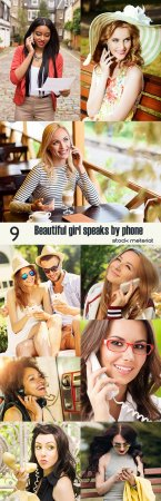Beautiful girl speaks by phone